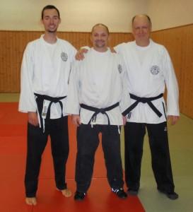 Meister Pendl, Niederl und Stelzer (vlnr)